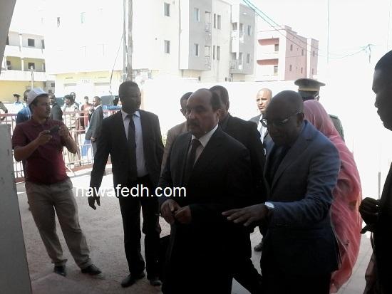 لحظة وصوله المركز الصحي بلكصر المعروف بطب الحاج