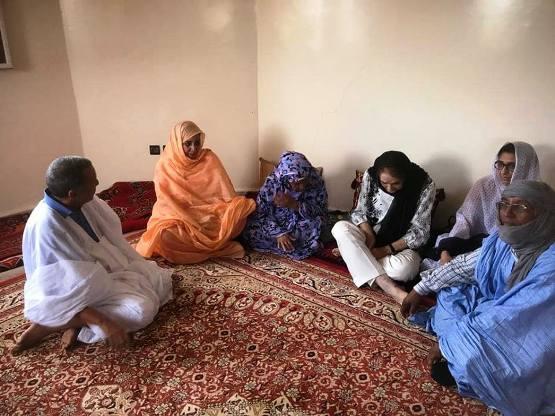 مريم داداه خلال تقديمها واجب العزاء في رفيقتها