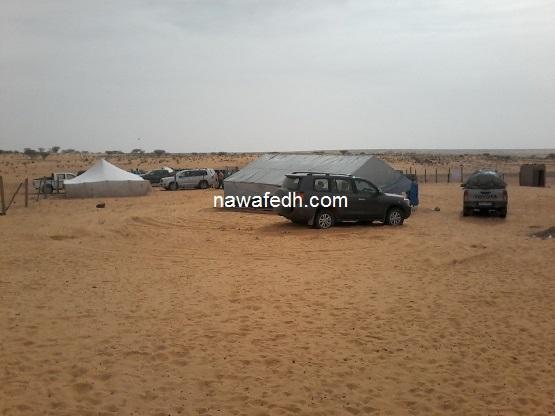 سيارة وزير الزراعة في توقف إجباري بلكويعة في طريقها إلى تيشيت
