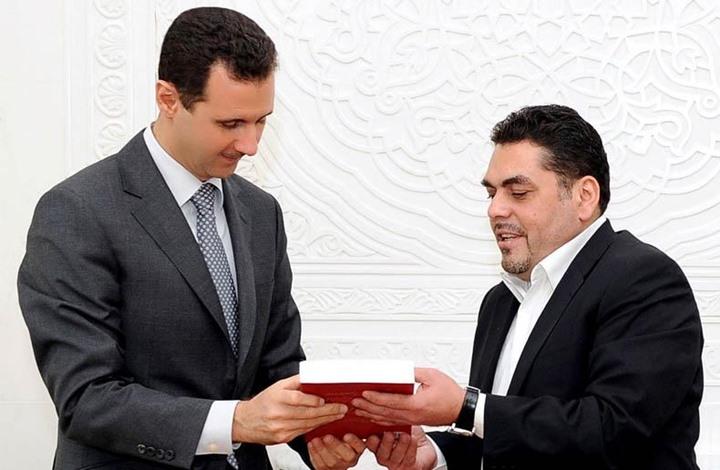 سمير القنطار مع الرئيس السوري بشار الأسد