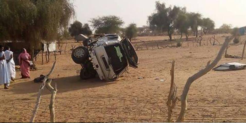 جانب ىخر من صورة السيارة بعد الحادث