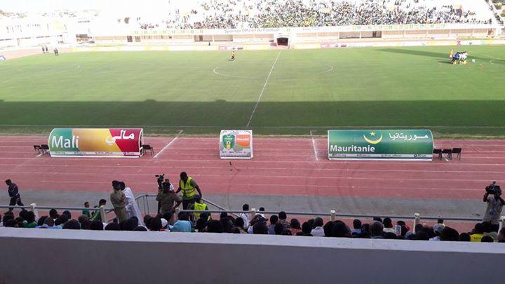 صورة من الملعب الأولمبي بنواكشوط لحظات قبل بداية المباراة
