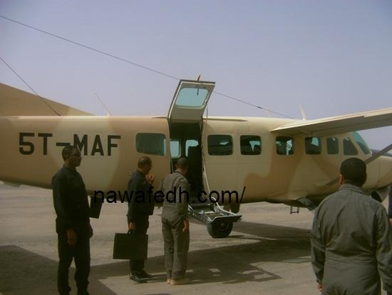 الطائرة التي أقلت الرئيس إلى نواكشوط