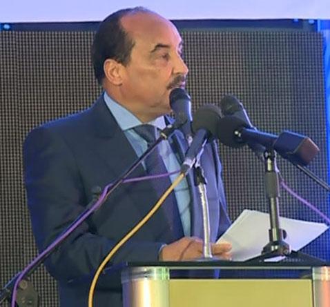 الرئيس محمد ولد عبد العزيز يلقي كلمته في المؤتمر