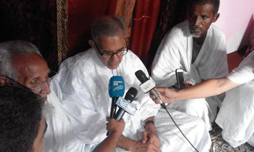 ولد داداه خلال تصريحه للصحافة مساء اليوم