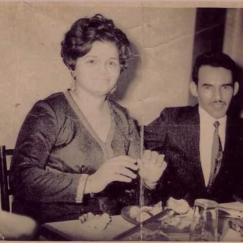 الرئيس معاوية مع سادية زوجته الأولي