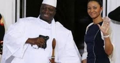 زينب سوما رفقة الرئيس جامى