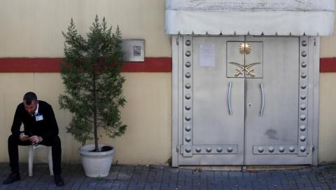 القنصلية السعودية في إسطنبول حيث قتل خاشقجي (رويترز)